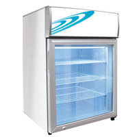 Excellence CTF-4MSHC White Countertop Display Freezer with Swing Door - 4.1 cu. ft.