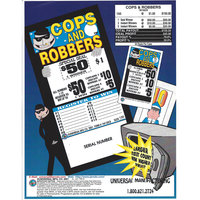 Cops and Robbers 1 Window Pull Tab Tickets - 150 Tickets Per Deal - Total Payout: $105
