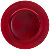 10 Strawberry Street LARD-24 13 inch Lacquer Round Red Charger Plate