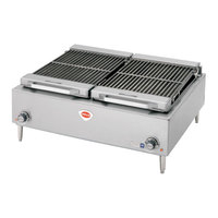Wells B-50 36 inch Stainless Steel Electric Charbroiler - 240V, 10800W