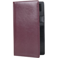 5 inch x 9 inch Burgundy Vinyl Guest Check Presenter / Server Book