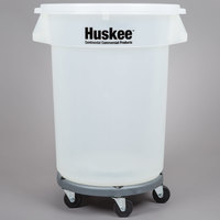 Continental 32 Gallon Clear Trash Can, Lid, and Dolly Kit