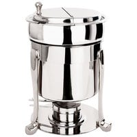 Eastern Tabletop 3107FS-SS Freedom 7 Qt. Stainless Steel Sauce / Soup Marmite with Hinged Lid