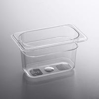 1/9 Size Clear Polycarbonate Food Pan - 4 inch Deep