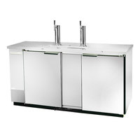 Beverage-Air DZ58-1-S-1-1 (2) Double Tap Dual Zone Kegerator Beer Dispenser, 2 Keg Drawers - Stainless Steel, (8) 1/6 Keg Capacity