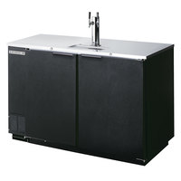 Beverage-Air DZ58-1-B-1 58 inch Black Dual Zone Beer Dispenser with One Keg Drawer and One Door