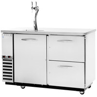 Beverage-Air DZD58-1-S-2 58 inch Stainless Steel Dual Zone Back Bar Refrigerator with Wine Drawers
