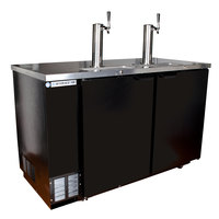 Beverage-Air DZ58-1-B-1-1 58 inch Black Dual Zone Beer Dispenser with Two Keg Drawers