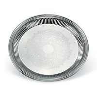 Vollrath 82168 Esquire 12 inch Round Fluted Stainless Steel Tray