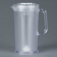 66 oz. Clear Texture Pitcher with Lid and Ice Core