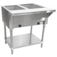 Advance Tabco HF-2G Liquid Propane Two Pan Powered Hot Food Table - Open Well