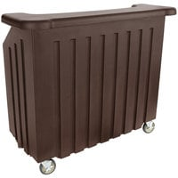 Cambro BAR540131 Cambar Dark Brown 54 inch Portable Bar with 5-Bottle Speed Rail