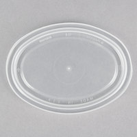 Newspring E1002LD ELLIPSO 2 oz. Clear Oval Plastic Souffle / Portion Cup Lid   - 250/Pack