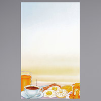 8 1/2 inch x 14 inch Menu Paper - Breakfast Themed Rooster Design Left Insert - 100/Pack