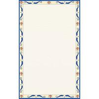 8 1/2 inch x 11 inch Menu Paper Middle Insert - Mediterranean Border - 100/Pack