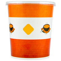 Choice 32 oz. Double Poly-Coated Paper Soup / Hot Food Cup with Vented Plastic Lid - 25/Pack