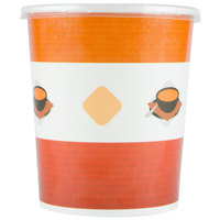 Choice 32 oz. Double Poly-Coated Paper Soup / Hot Food Cup with Plastic Lid - 25/Pack