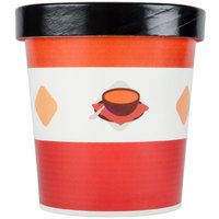 Choice 16 oz. Double-Wall Poly Paper Soup / Hot Food Cup with Vented Paper Lid - 25 / Pack
