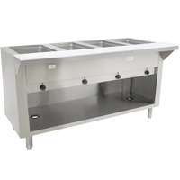Advance Tabco HF-4E-120-BS Four Pan Electric Hot Food Table with Enclosed Base - Open Well, 120V