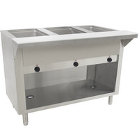 Advance Tabco HF-3E-240-BS Three Pan Electric Hot Food Table with Enclosed Base - Open Well, 208/240V
