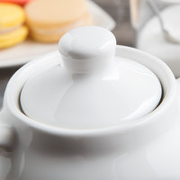 Tuxton BWT-18AL White China Teapot Lid - 12/Case