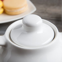 Tuxton BWT-10AL White China Teapot Lid - 12/Case