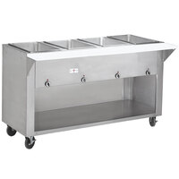 Advance Tabco HF-4E-BS Four Pan Electric Hot Food Table with Enclosed Base - Open Well