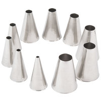Ateco 810 10-Piece Stainless Steel Plain Piping Tip Decorating Set (August Thomsen)