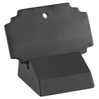 Cal-Mil 3344-13 Black Write-On Menu Card with Stand - 2 inch x 3 inch