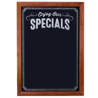 Cal-Mil 3031-2435 Chalkboard Sign with Pre-Printed Header Enjoy Our Specials - 24 inch x 35 inch