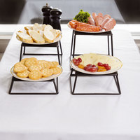 Tablecraft BKR4 Square Set of Four Riser Set - 7 inch x 6 inch