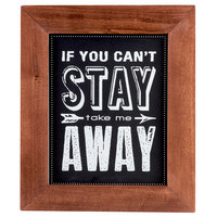 Cal-Mil 3031-811 Chalkboard Sign with Pre-Printed Message - 8 1/2 inch x 11 inch