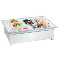 Cal-Mil 3034-55 Stainless Steel Ice Housing System with Ice Pan, Drainage Hose, and LED Light - 49 1/2 inch x 25 1/2 inch x 8 1/2 inch