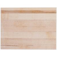 Cal-Mil 3055-1216-71 16 inch x 12 inch x 1 1/2 inch Maple Rectangular Block / Cutting Board