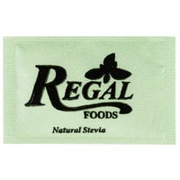 Regal 1 Gram Natural Stevia Sugar Substitute Packet - 1000/Case