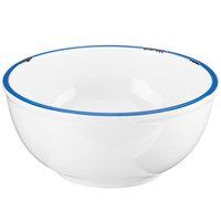 Cal-Mil 3343-8-15 White Enamelware 1.7 Qt. Melamine Bowl - 8 1/4 inch x 3 3/4 inch