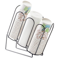 Cal-Mil 3036-13 Iron Cup/Lid Organizer with 3 Stacks - 4 3/4 inch x 11 1/2 inch x 11 3/4 inch