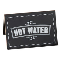 Cal-Mil 3047-3 Chalkboard Beverage Sign with Hot Water Print - 3 inch x 2 inch x 2