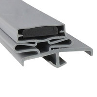 Hobart 266379-1 Equivalent 3-Sided Magnetic Door Gasket - 36 1/4 inch x 77 1/4 inch