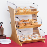 Cal-Mil 3397-3-60 3 Tier Bamboo Nose Bin Bakery Display