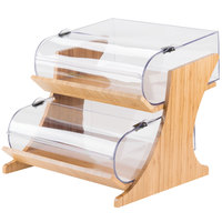 Cal-Mil 3397-2-60 2-Tier Bamboo Round Nose Bin Bakery Display