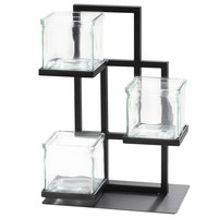 Cal-Mil 3350-13 Union Square 3-Tier Condiment Jar Display - 7 inch x 10 inch x 14 inch