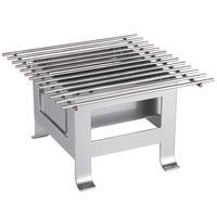 Cal-Mil 3403-12-74 Soho Silver Chafer Alternative - 12 inch x 12 inch x 7 1/2 inch