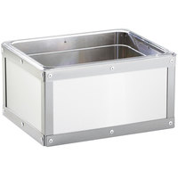 Cal-Mil 3395-10-55 Urban Stainless Steel Ice Housing - 12 3/4 inch x 10 3/4 inch x 6 3/4 inch
