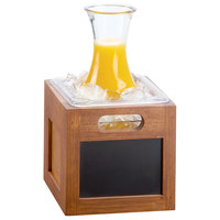 Cal-Mil 3354-6 Bamboo-Colored Chalkboard Ice Housing - 7 inch x 7 inch x 8 inch