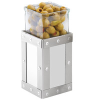 Cal-Mil 3405-7-55 Urban 7 inch Stainless Steel Riser with Glass Jar