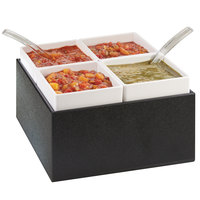 Cal-Mil 3369-13 Black Chilled Server - 10 1/2 inch x 10 1/2 inch x 7 inch