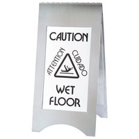 Cal-Mil 852-55 22 inch 2-Sided Stainless Steel WET FLOOR Sign