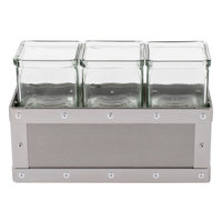 Cal-Mil 3412-5-55 Urban 5 inch Stainless Steel Jar Display with 3 Glass Jars
