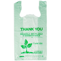 Green Herc 1/6 Size Biodegradable Plastic T-Shirt Bag - 500 / Case